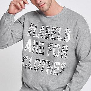 Ditch the Label – Graue meliertes T-Shirt