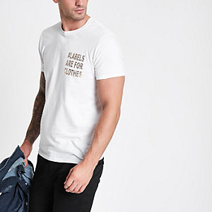 White Ditch the Label T-shirt