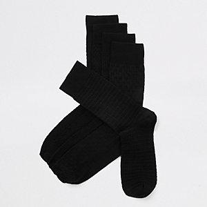 Schwarze Socken aus Bambus, 5er-Pack