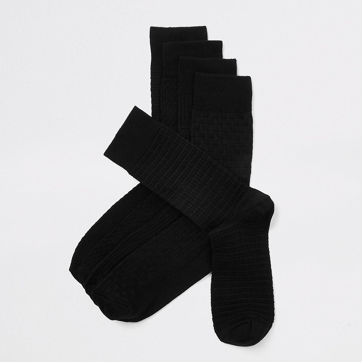 Black bamboo socks multipack