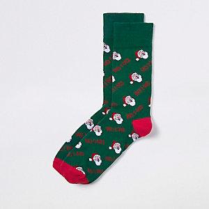 """Grüne Weihnachtssocken """"Ho ho"""""""