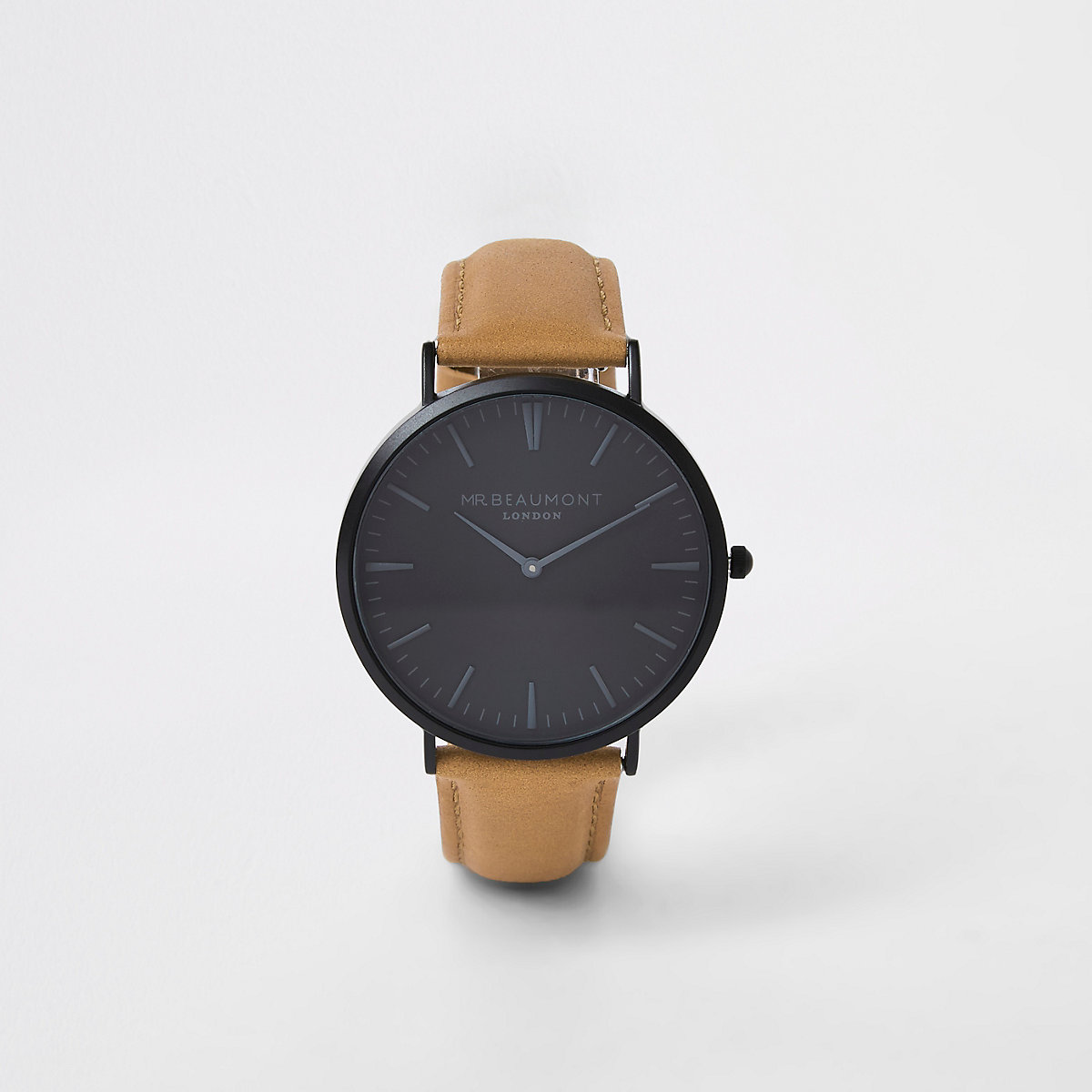 Brown Mr Beaumont leather strap watch