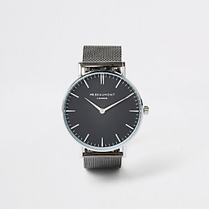Black gun metal Mr Beaumont watch