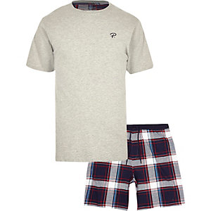 Grey 'Prolific' check pyjama set