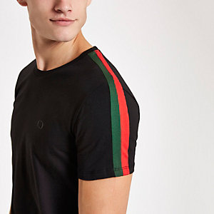 Criminal Damage black stripe side T-shirt