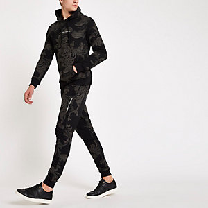Criminal Damage – Pantalon de jogging à imprimé baroque noir