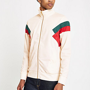 Criminal Damage white color block track top