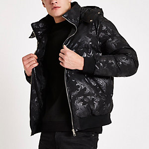 Criminal Damage black baroque puffer jacket