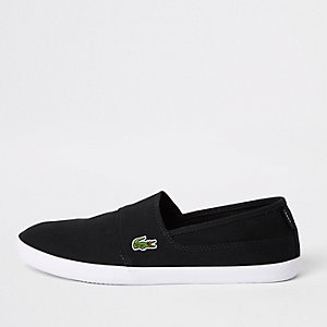 Lacoste black slip on trainers