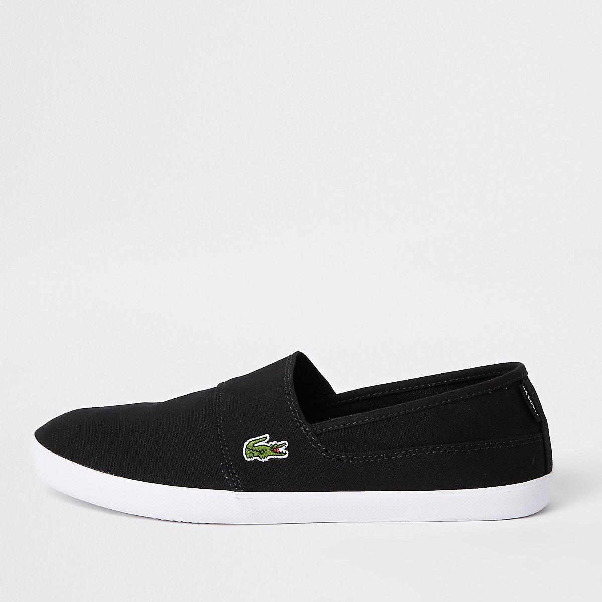 Lacoste black slip on sneakers