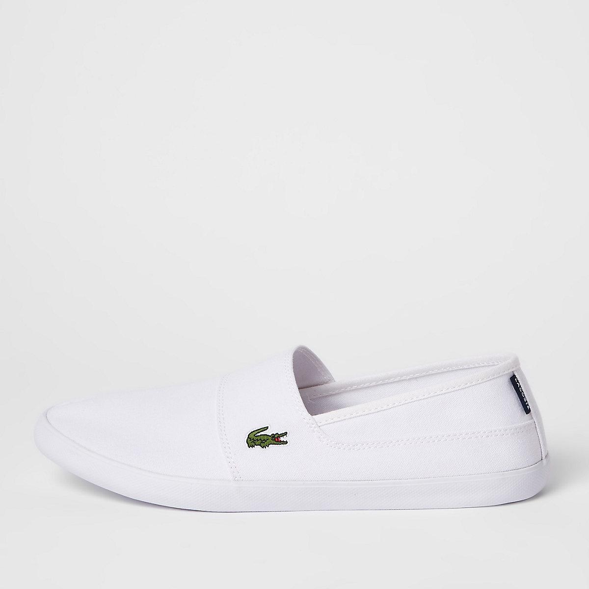 Lacoste white slip on sneakers