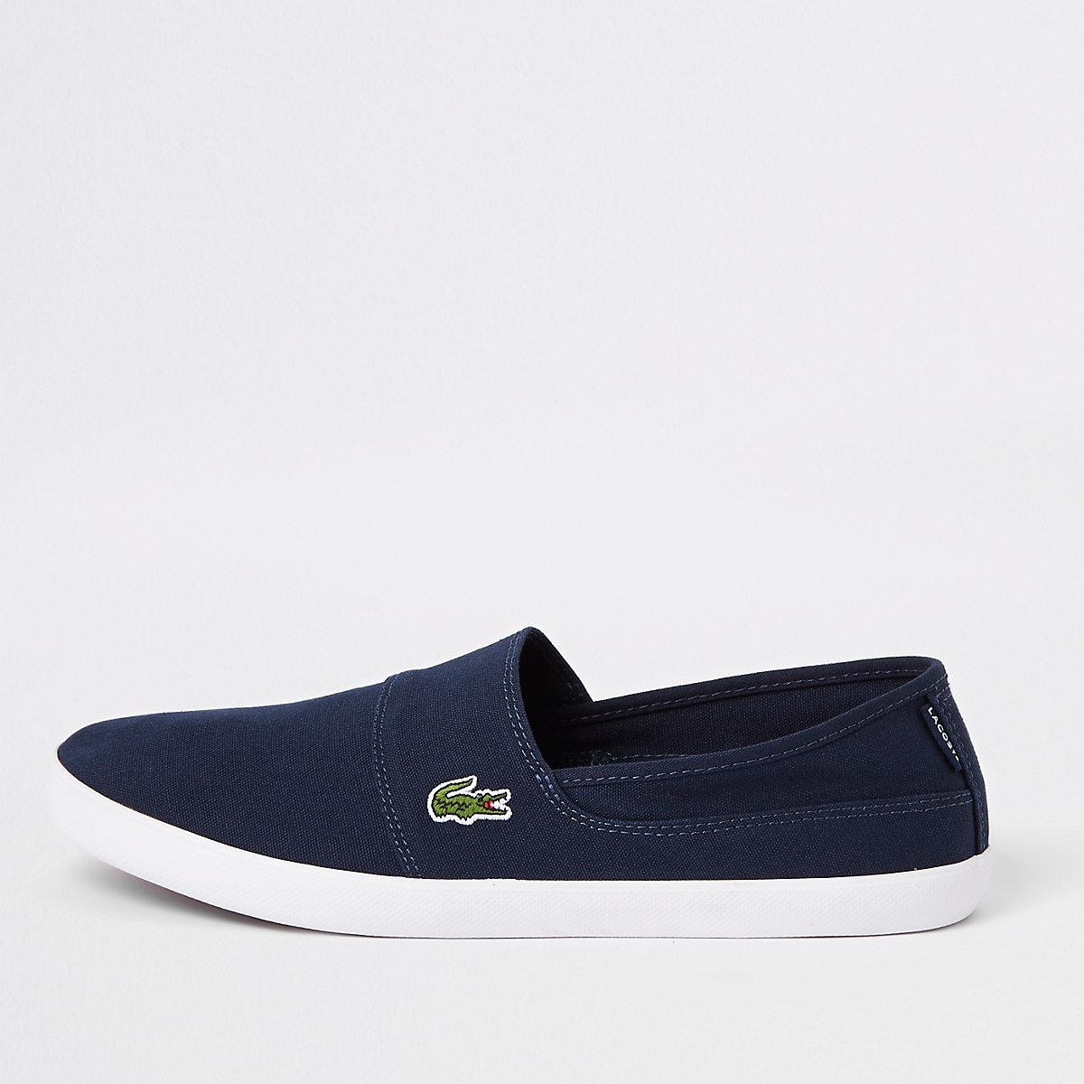 Lacoste navy slip on sneakers