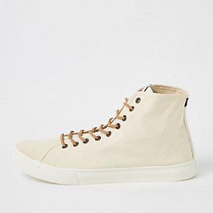 Levi's - Kiezelkleurige halfhoge sneakers