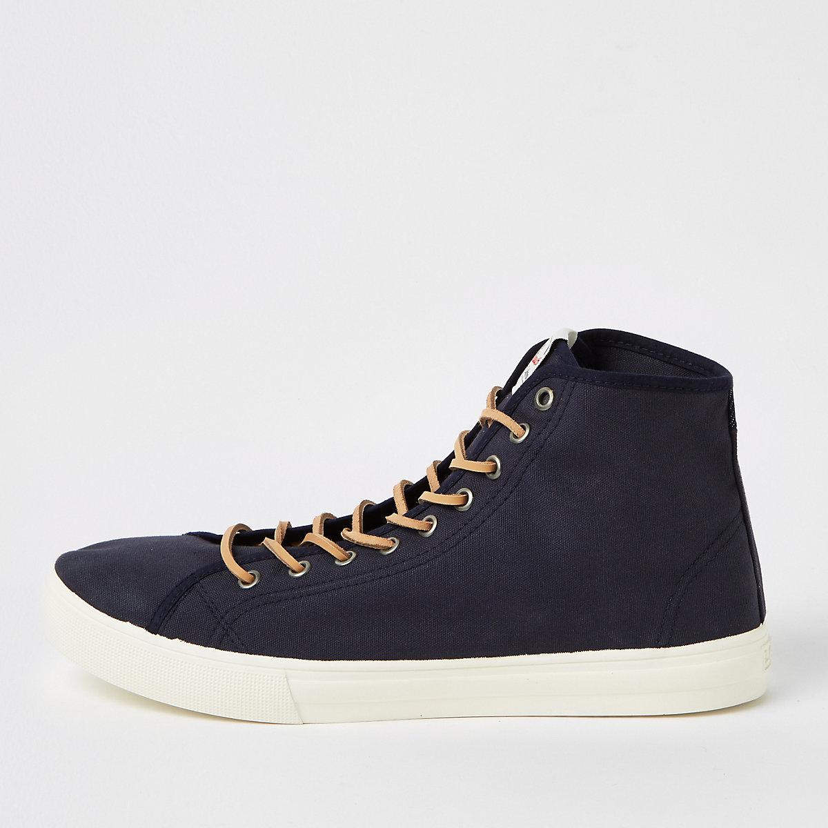 Levi's navy mid top sneakers