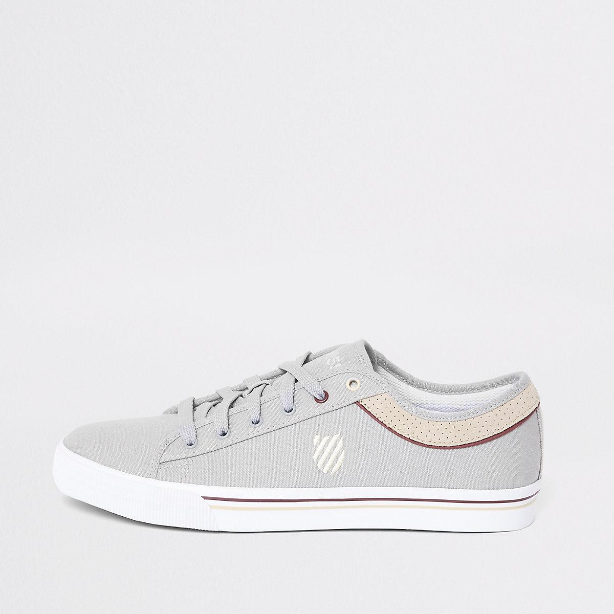 K-Swiss light grey Bridgeport sneakers
