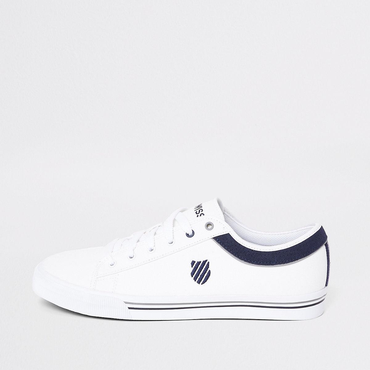 K-Swiss white Bridgeport sneakers