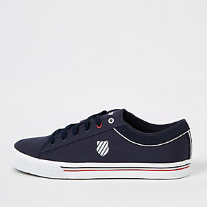 K-Swiss navy lace-up sneakers