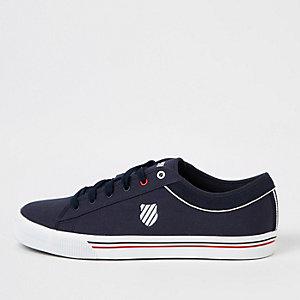 K-Swiss - Marineblauwe vetersneakers