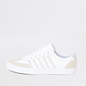 K-Swiss white leather Addison trainers
