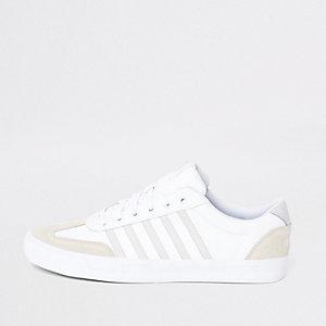 K-Swiss – Addison – Baskets en cuir blanches