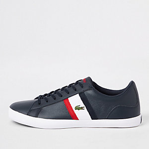 Lacoste Lerond navy leather trainers