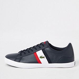 Lacoste Lerond - Marineblauwe leren sneakers