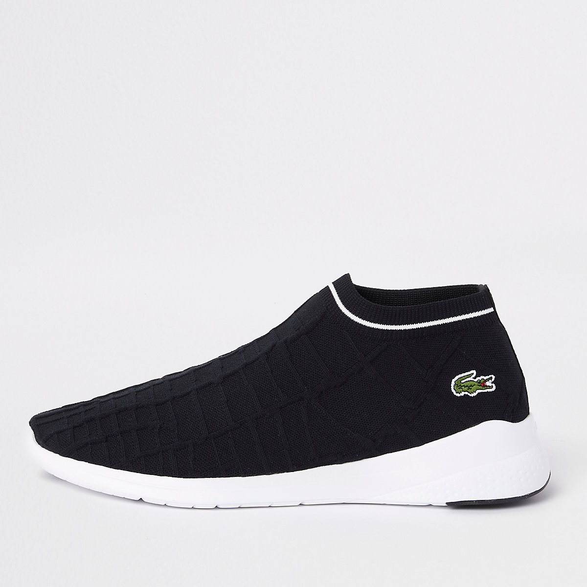 Lacoste black sock trainers
