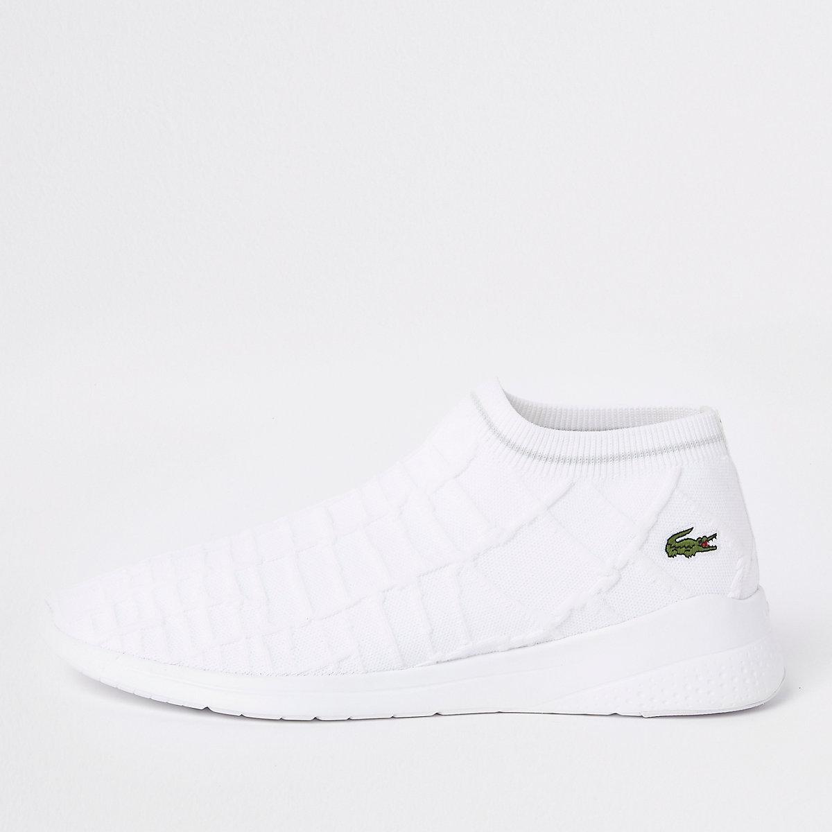 Lacoste white sock sneakers