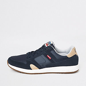 Levi's - Sutter - Marineblauwe vetersneakers