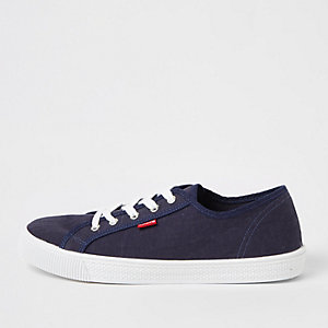 Levi's - Blauwe canvas vetersneakers