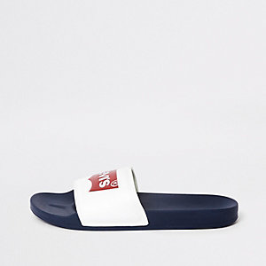 Levi's - Witte instapslippers