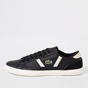 Lacoste Sideline black leather trainers
