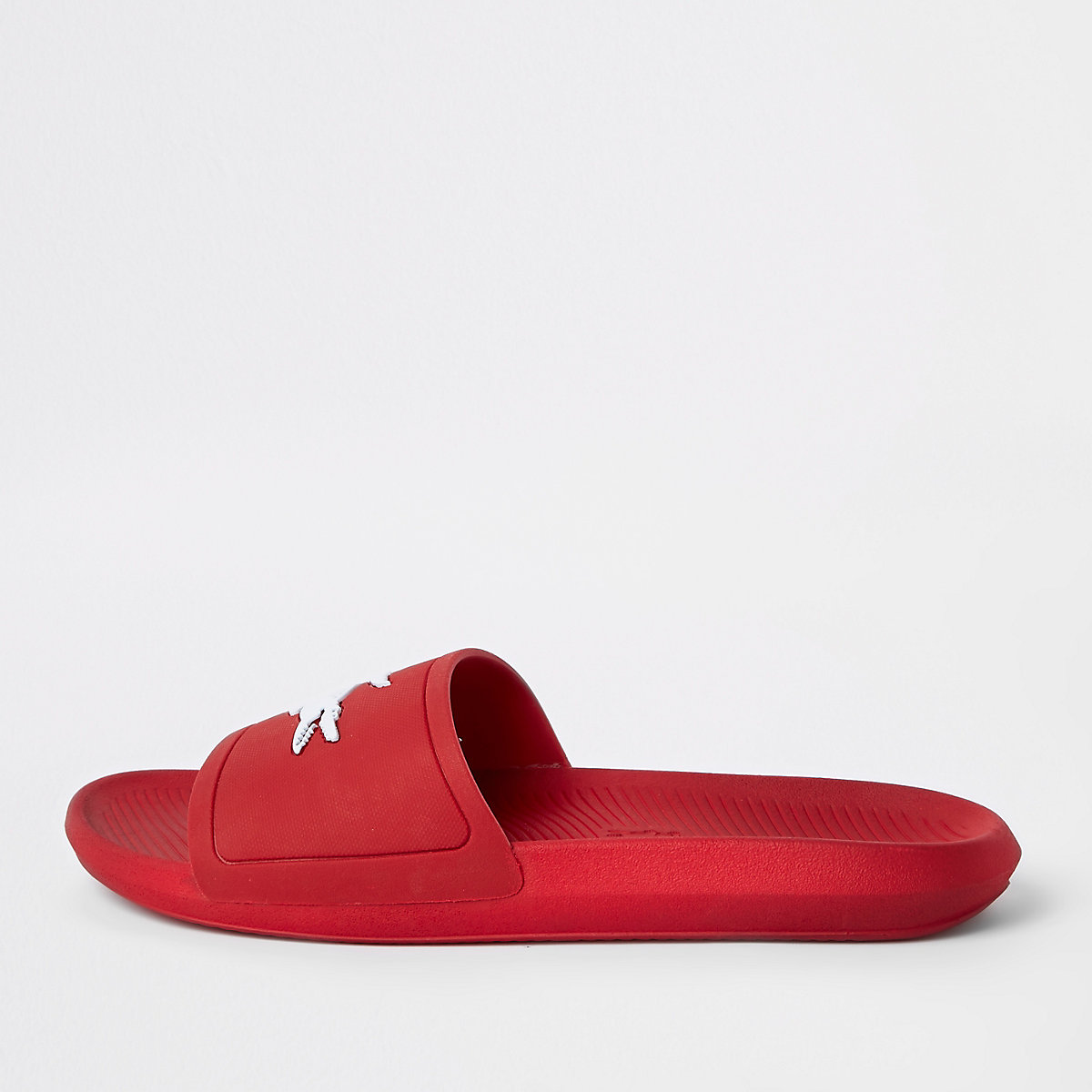 Lacoste red sliders