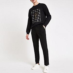 """Schwarzes Sweatshirt """"Carpe Diem"""""""