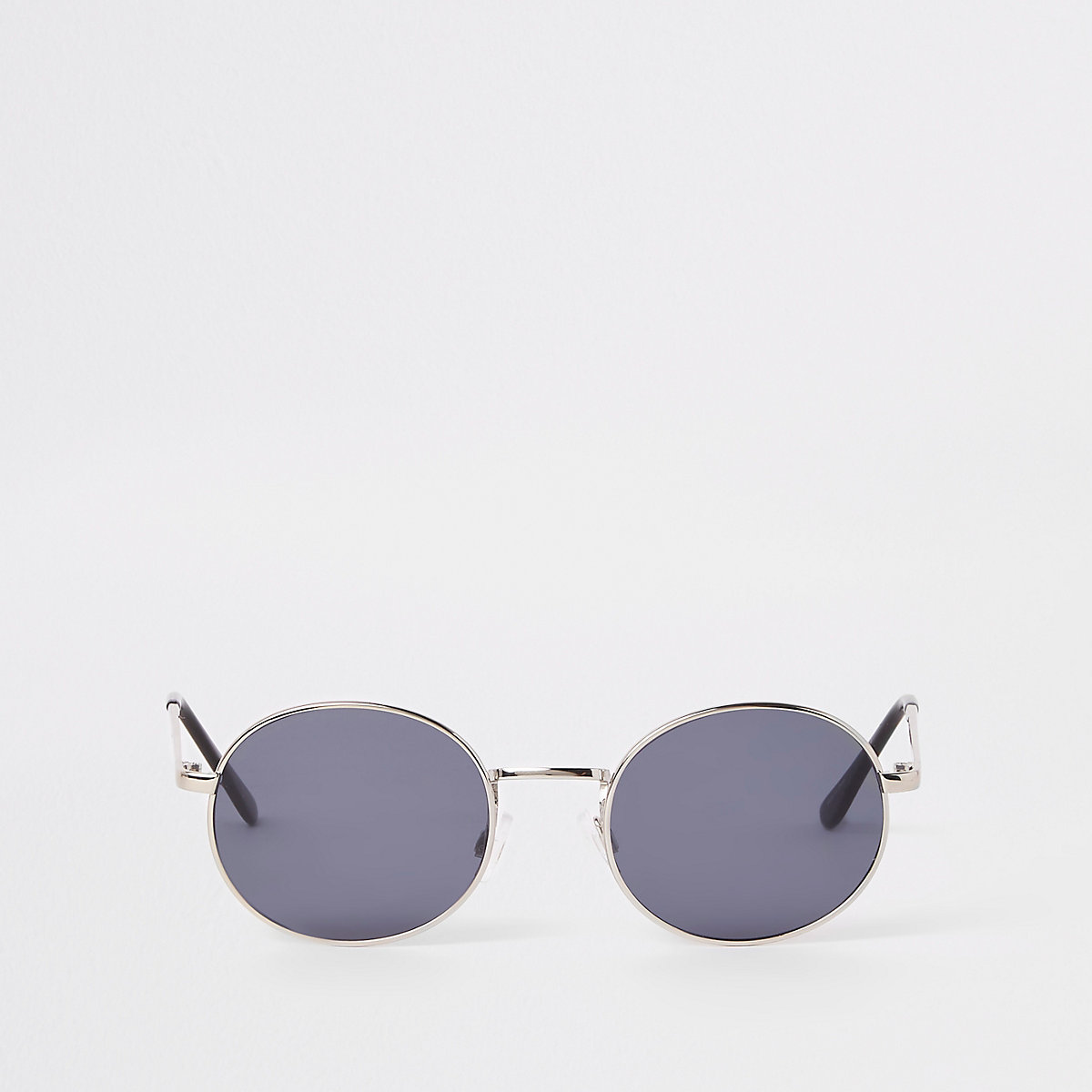 Selected Homme silver round sunglasses