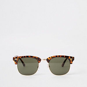 Selected Homme – Braune Retro-Sonnenbrille