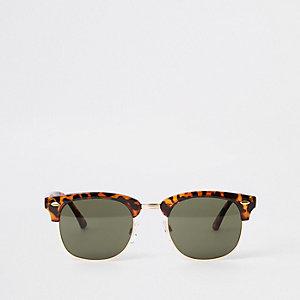 Selected Homme - Bruine zonnebril met retro montuur