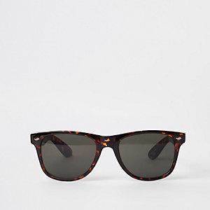 Selected Homme – Lunettes de soleil marron style navigateur