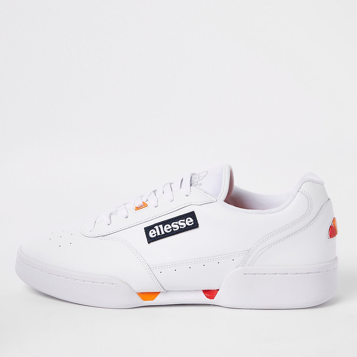 Ellesse white Piacentino leather trainers