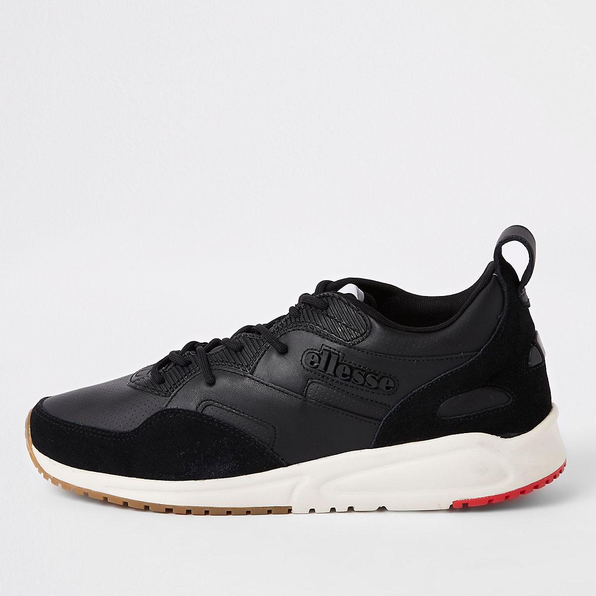 Ellesse black Potenza leather sneakers