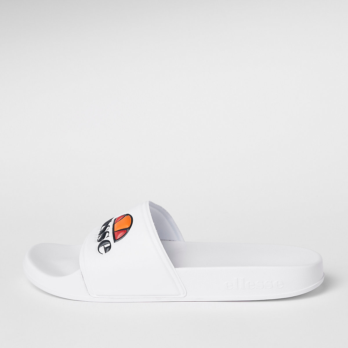 Ellesse white embossed sliders