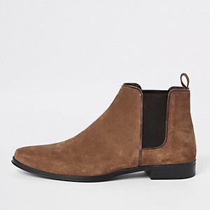 Bruine suède chelsea boots