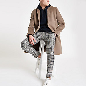 Light brown smart overcoat