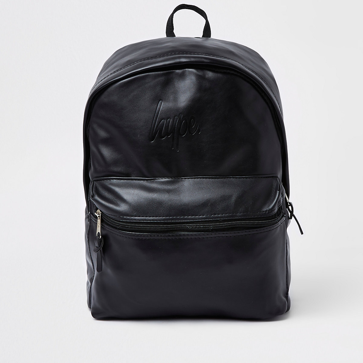 Hype black faux leather backpack