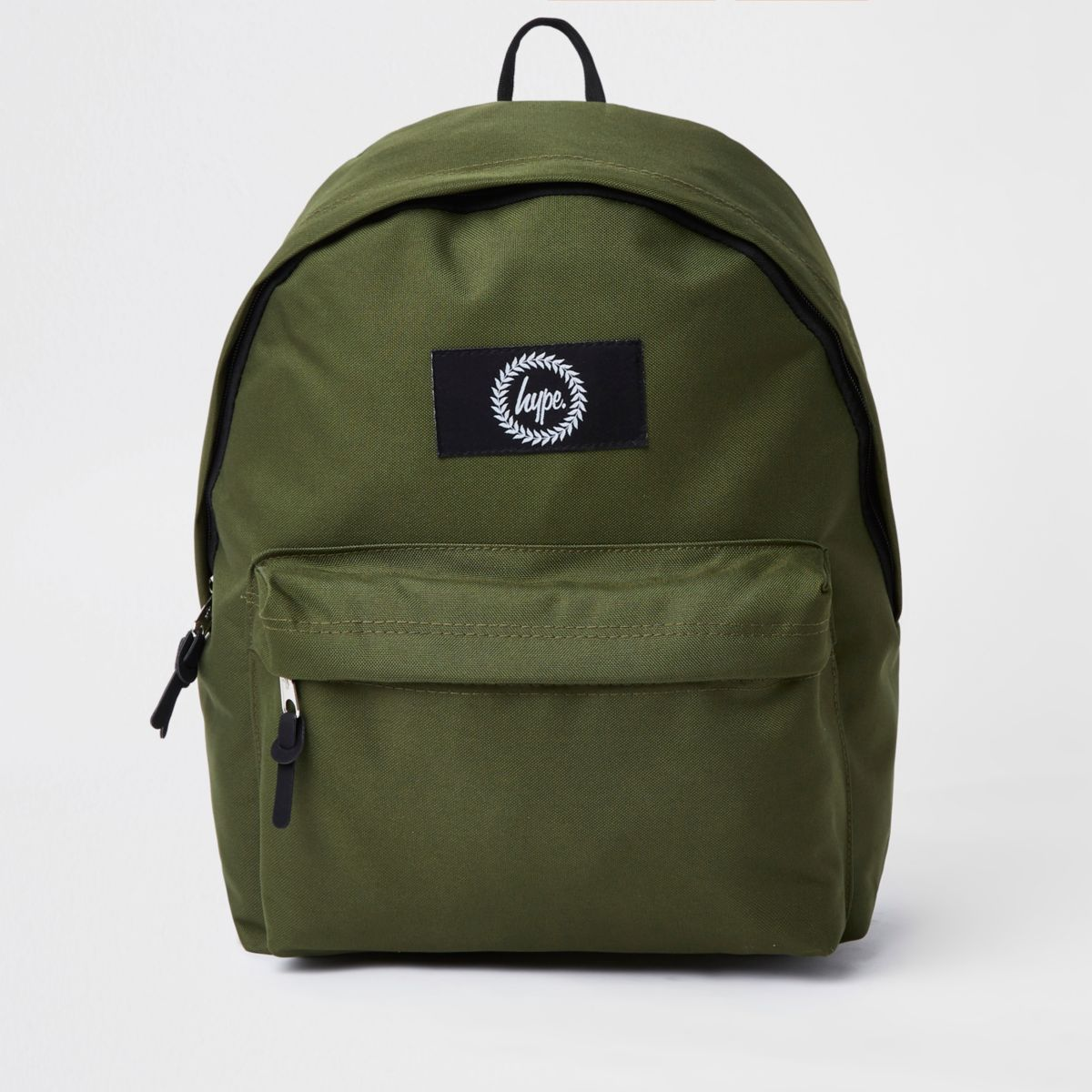 Hype khaki green embroidered backpack