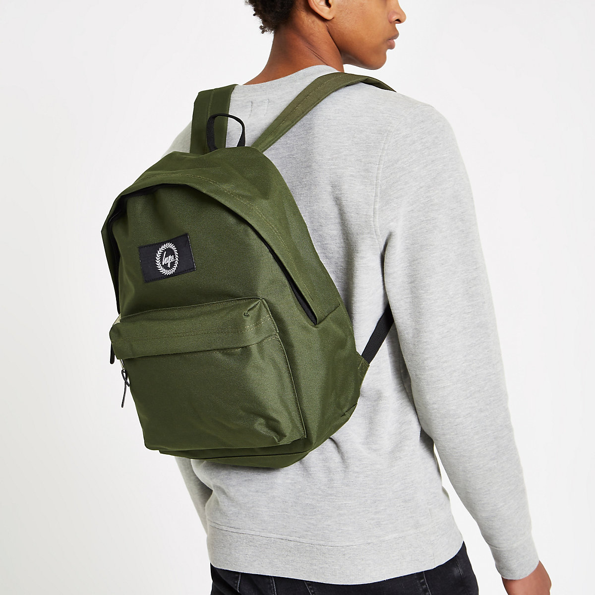 477cbabb4f75 Hype khaki green embroidered backpack - Backpacks   Rucksacks - Bags ...