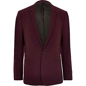 Big and Tall dark red suit jacket