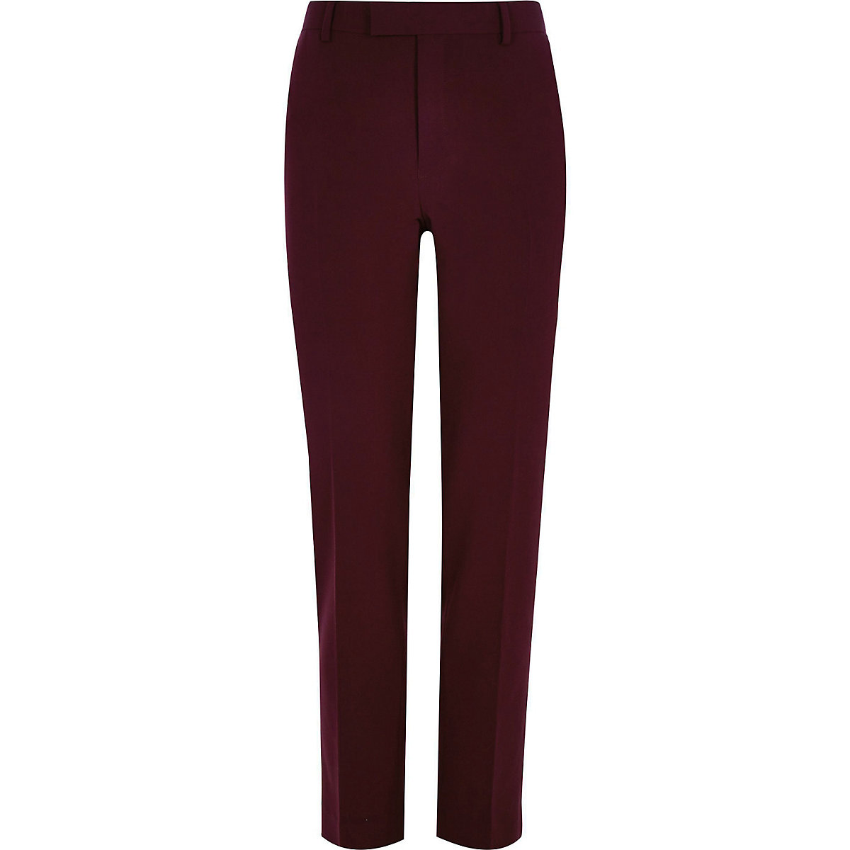 Big and Tall – Pantalon de costume rouge foncé
