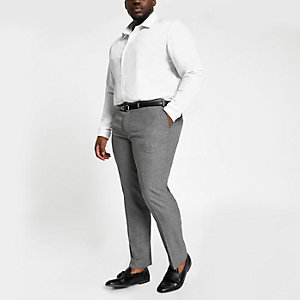 Big and Tall grey smart trousers