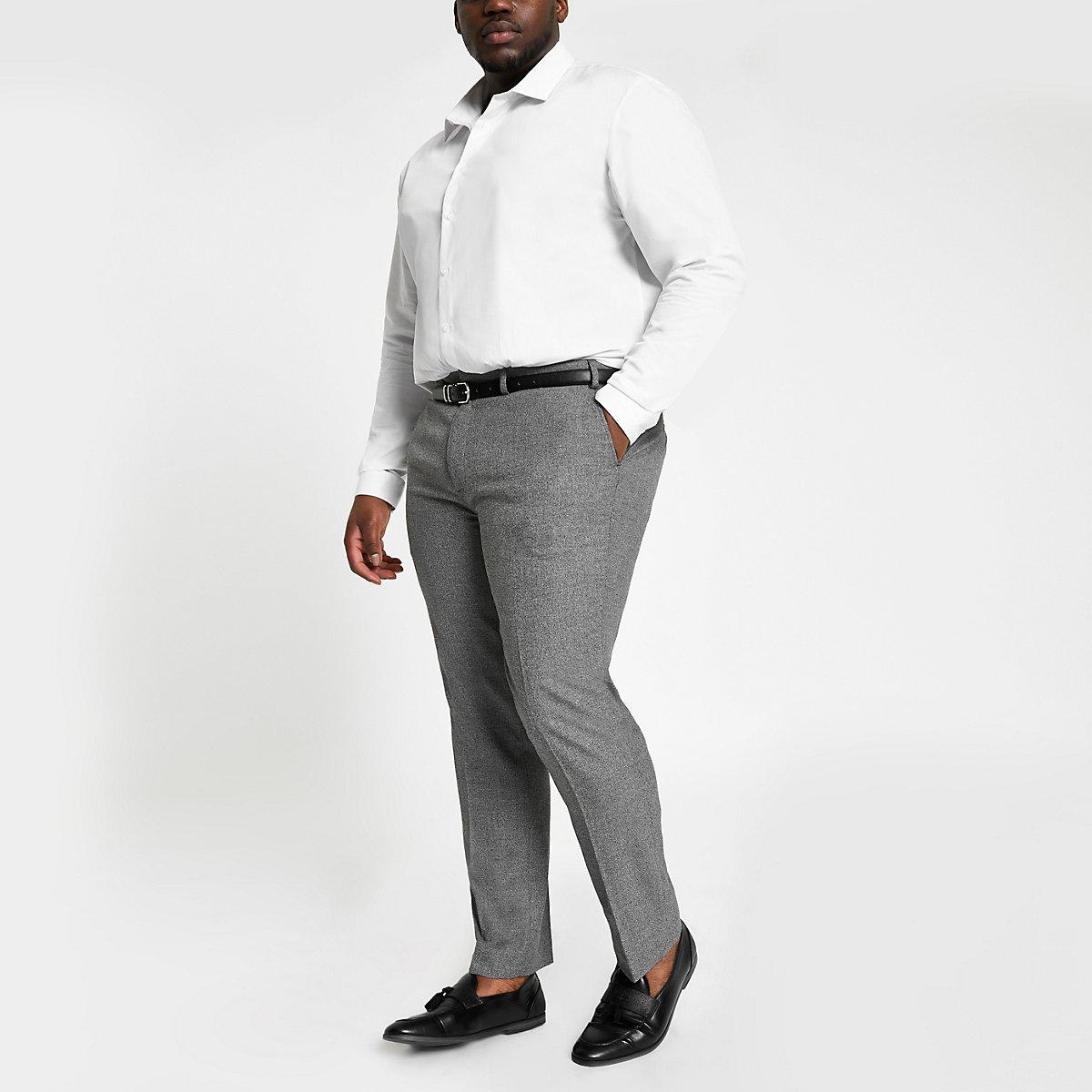 Big & Tall – Graue, elegante Hose